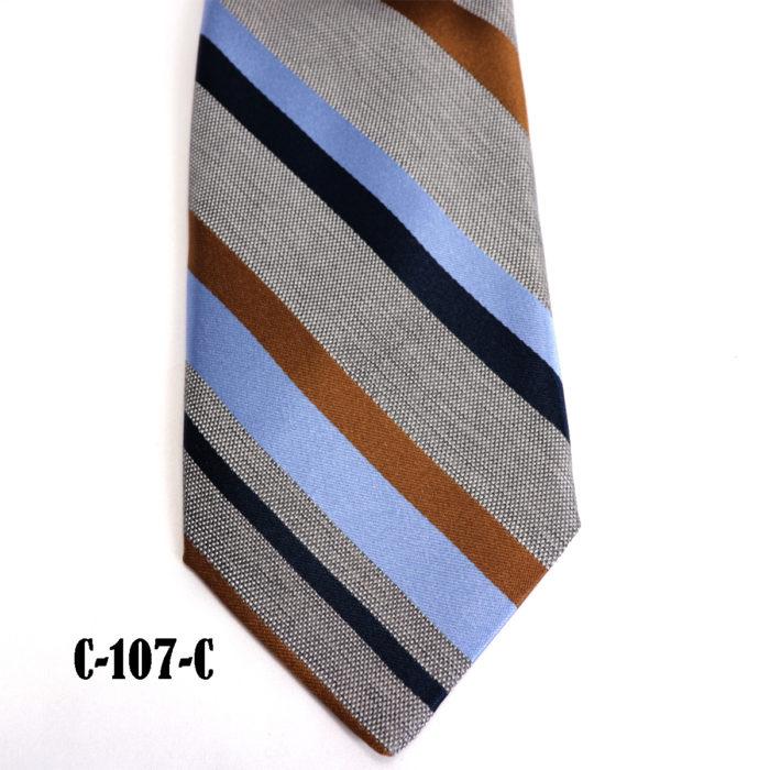 Silk stripe Italian handmade Tie C107C