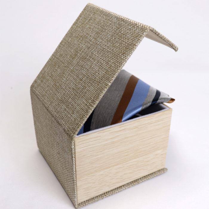 Silk stripe Italian handmade Tie C107box