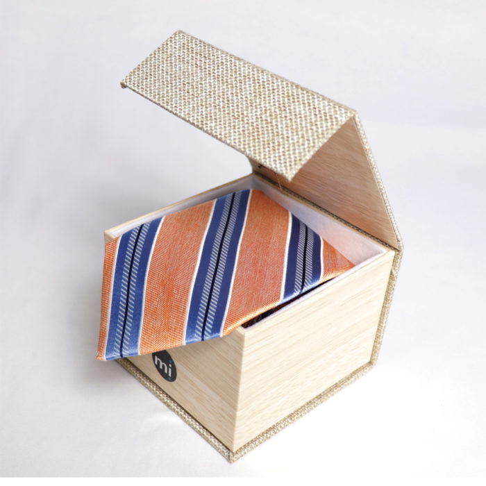 Silk stripe Italian handmade Tie C108box
