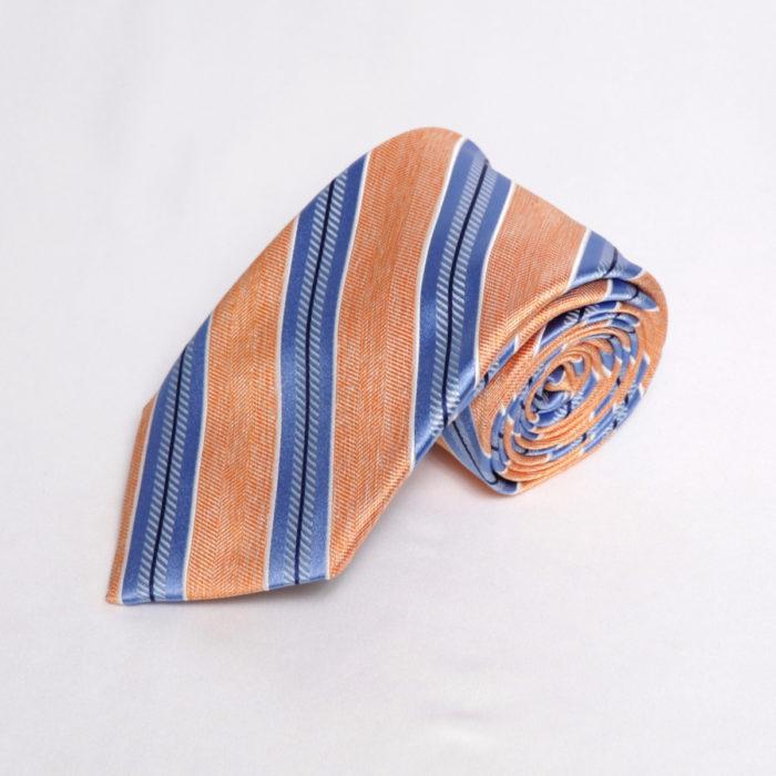 Silk stripe Italian handmade Tie C108roll