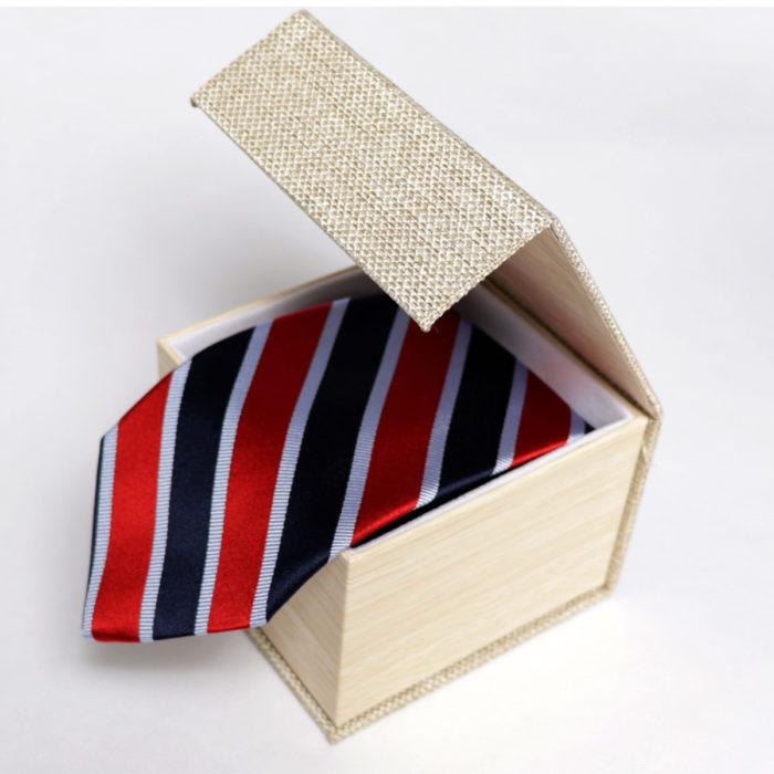 Silk stripe Italian handmade Tie C109box