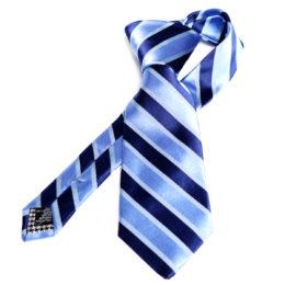 Silk stripe Italian handmade Tie C109