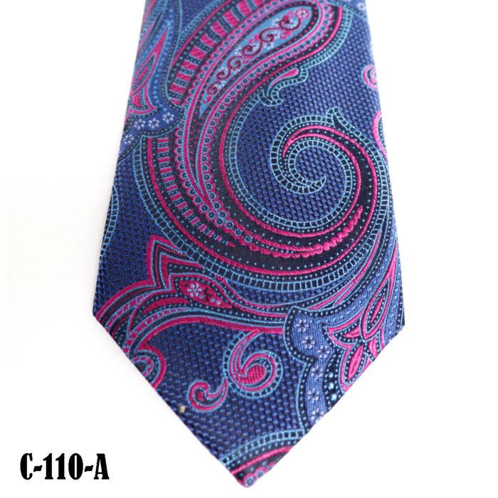 Silk Paisley neck tie C110A