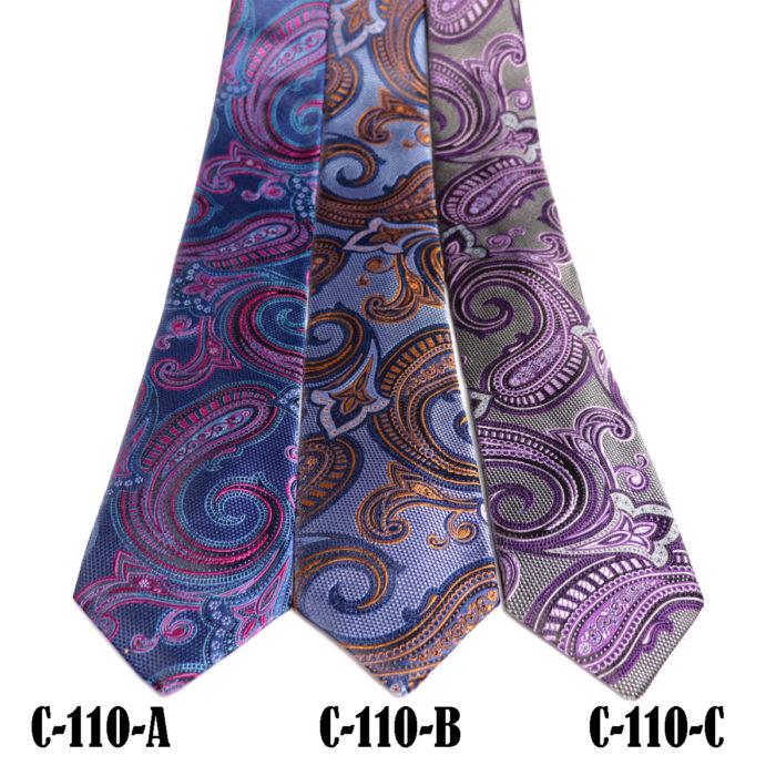 Silk Paisley neck tie C110