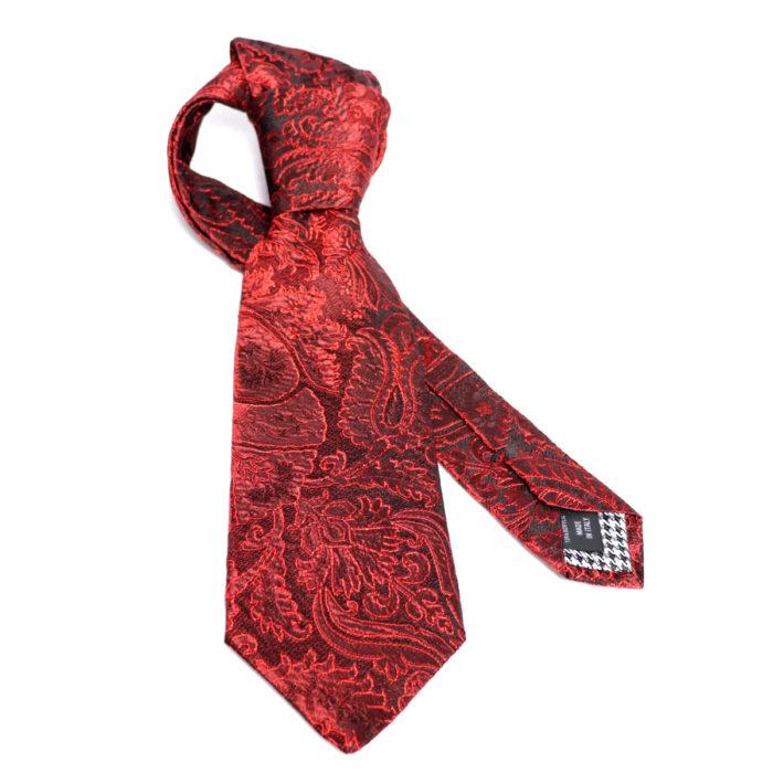 Silk Paisley neck tie C111
