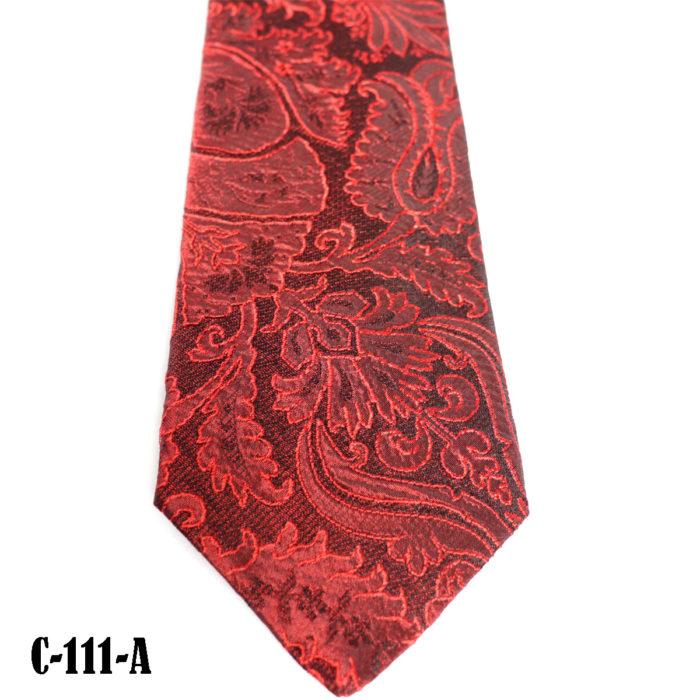 Silk Paisley neck tie C111A