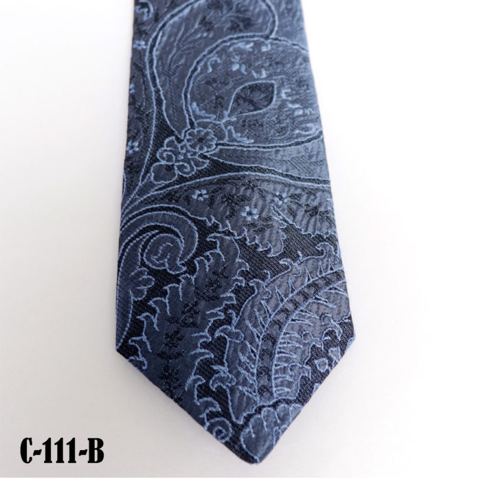 Silk Paisley neck tie C111B