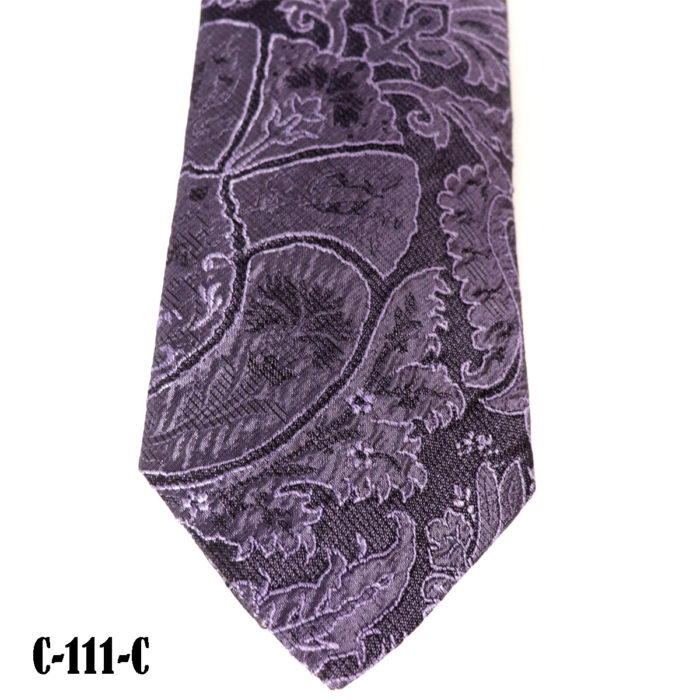 Silk Paisley neck tie C111C