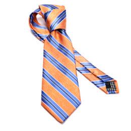 Silk stripe Italian handmade Tie C108