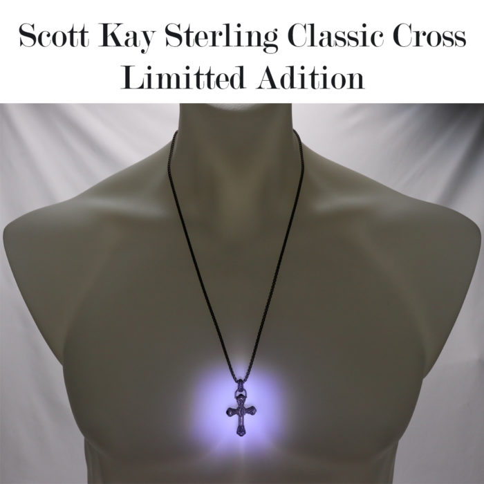 Scott Kay Cross Onyx Necklace