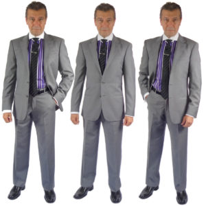 Enzo Mantoni suits in wool and silk