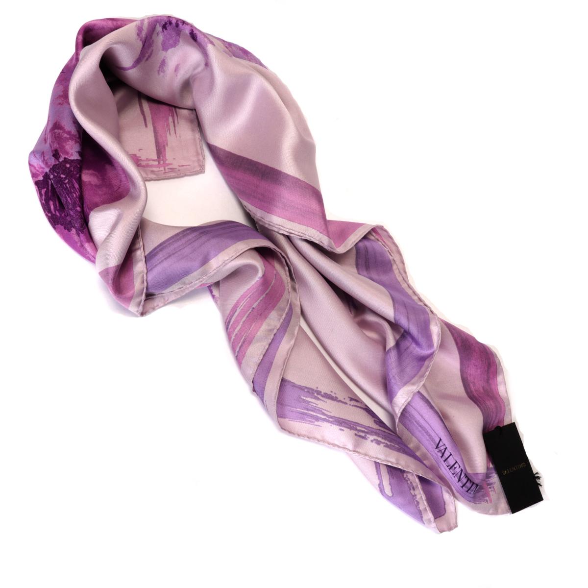 Lavender silk scarf