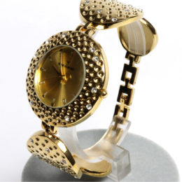Gold Bangle cuff bracelet Watch