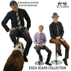 Enzo Mantoni accessories and jeans.