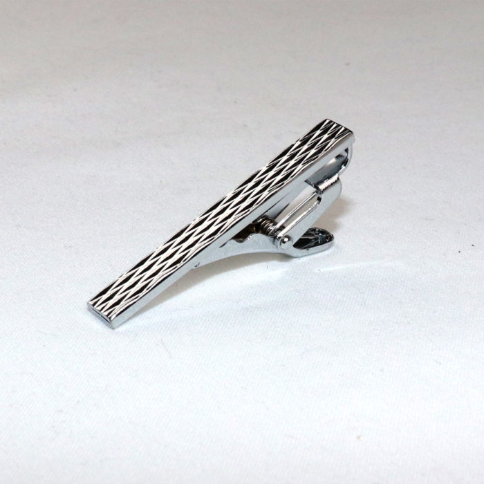 Chrome Tie bar 1.75 slim tie