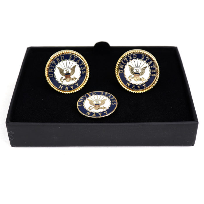 The official Military symbols and the bald eagle logo are particularly featured on this set.
