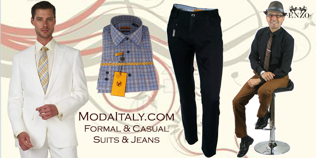 Formal and Casual Suits and Jeans