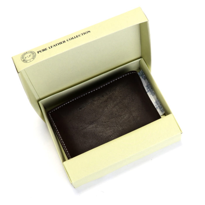 PLC Leather wallet for men box