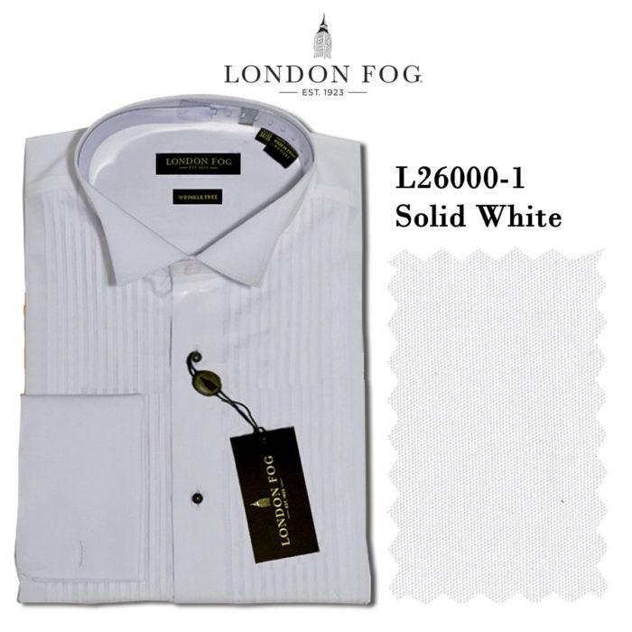 London Fog Wing Tip Tuxedo shirt