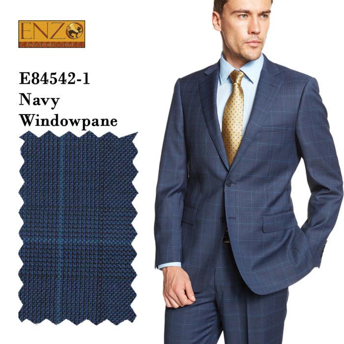 Enzo Blue Gray windowpane