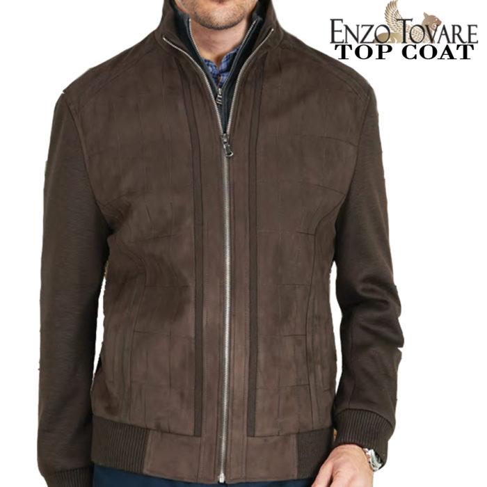 Enzo micro suede jacket