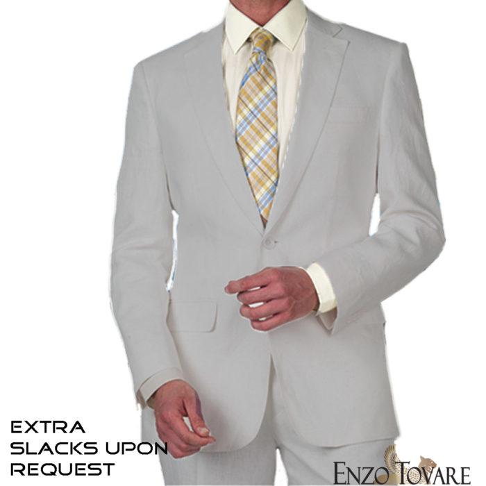 Enzo Grey linen suits