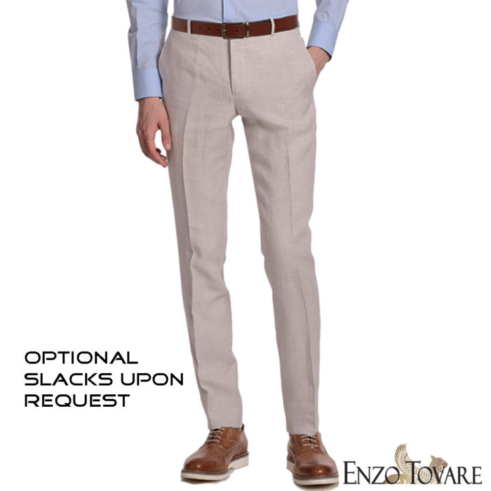 Enzo linen suits slacks