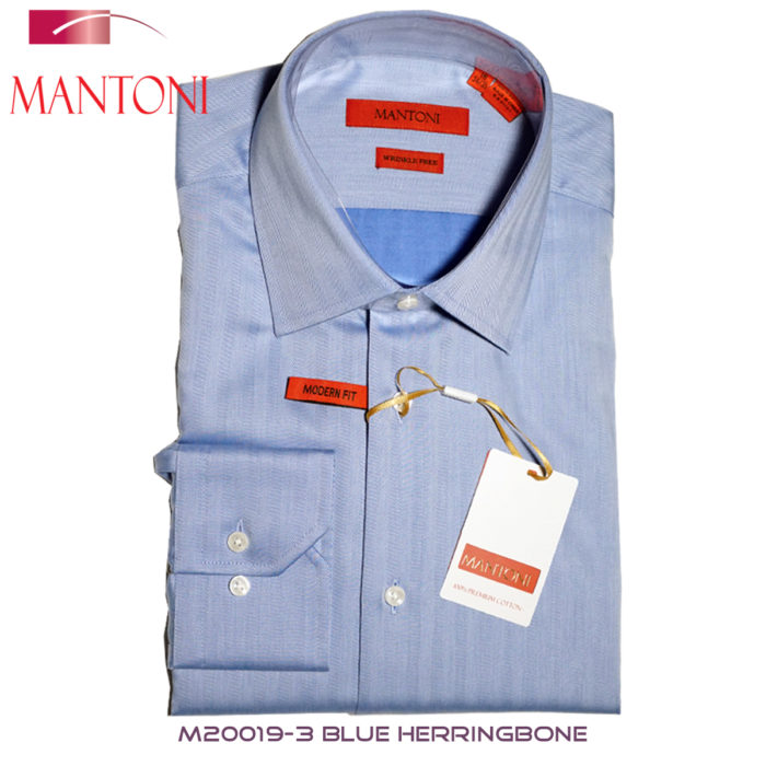 Mantoni Blue dress shirt