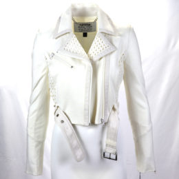 Blanc Noir Moto Off White Jacket