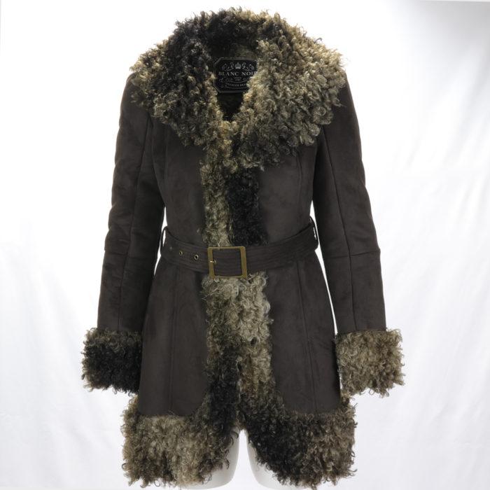 Blanc Noir Mongolian Wrap Coat