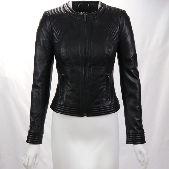 Black Lamb Leather Moto JacketBlack Lamb Leather Moto Jacket