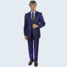 Galante Uomo Made in Italy Blue Suit
