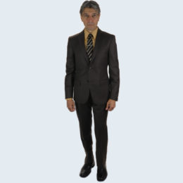 Galante Uomo Made in Italy Brown Suit