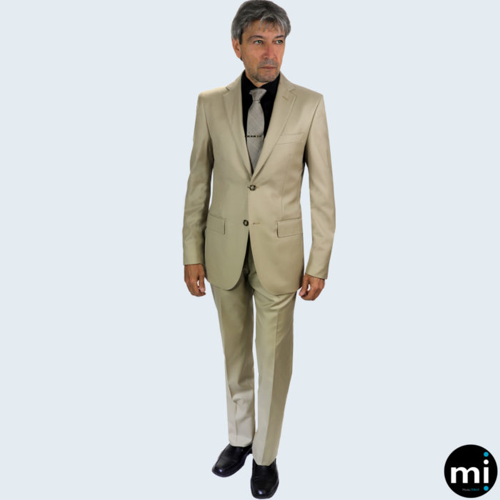 Galante Uomo Tan Made in Italy Suit