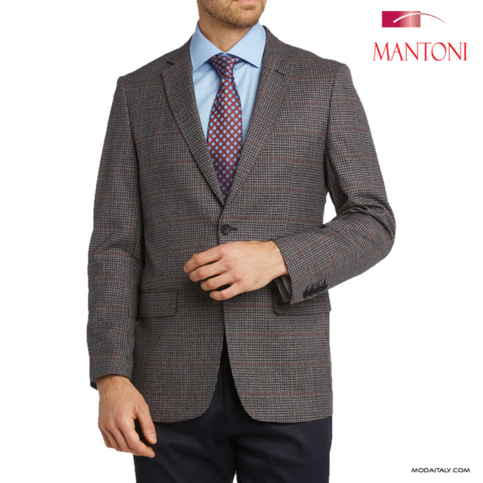 Mantoni Grey Check Sports Coat