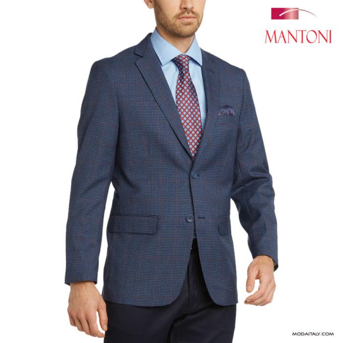 Mantoni Blue Check Sports Coat