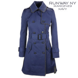 Runway NY Navy Double Breast Trench Coat