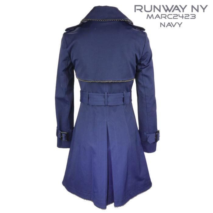 Runway NY Navy Double Breast Trench Coat