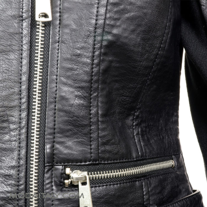 BNCI Black Leatherette Biker Jacket