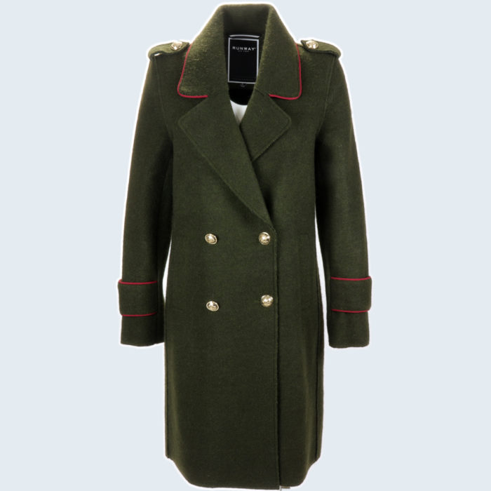 Military Trench Coat Olive