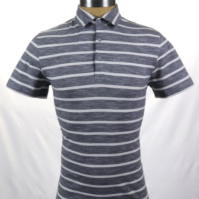 SMASH Polo Shirt Grey Stripe