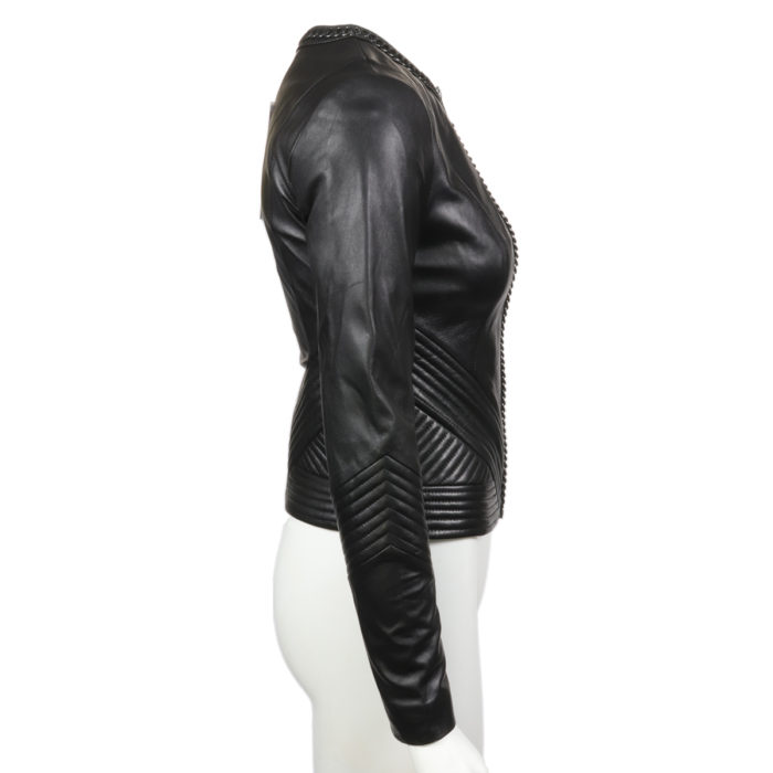 Black Lamb Leather Moto Jacket