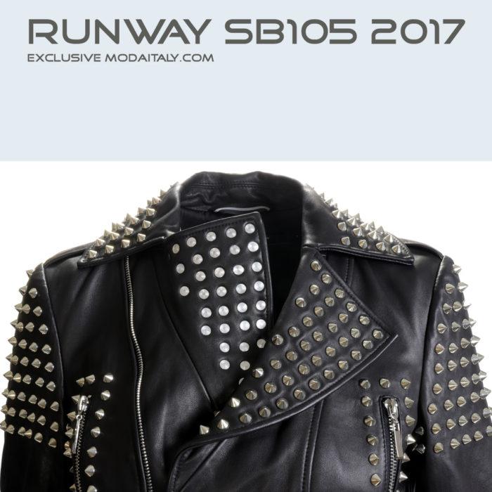 Black Studded Lambskin Leather Biker Jacket