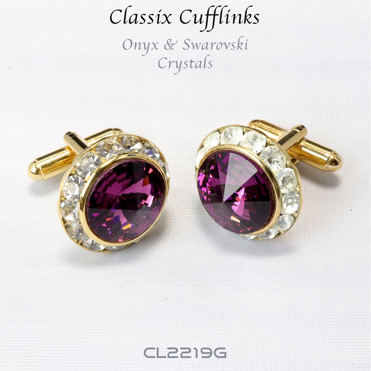 cobertura Larva del moscardón Tender  Red Swarovski Crystal Cufflinks in CA, NY, - Moda Italy Fashion