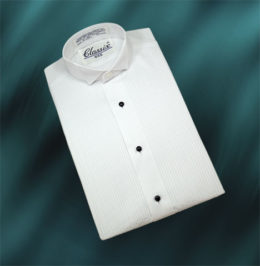 """Boy's Wing Tuxedo Shirts 1/8"""" pin tuck front"""