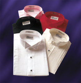 Wing Collar Tuxedo Shirts 5 Colors