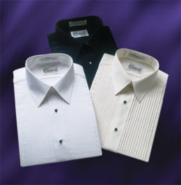 Laydown Collar Tuxedo Shirts 3 Colors