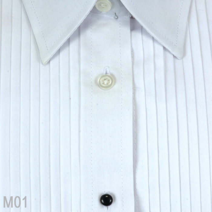 Laydown Collar Tuxedo Shirts 3 Colors