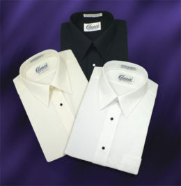 Laydown Collar Dress Shirts 3 Colors