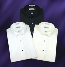 Wing Collar Microfiber Dress Shirts 4 Colors
